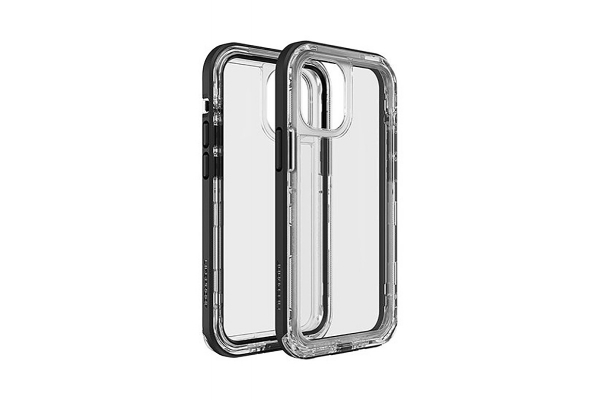 Large image of LifeProof Next Clear/Black Crystal Case For Apple iPhone 12 Mini - 77-65378