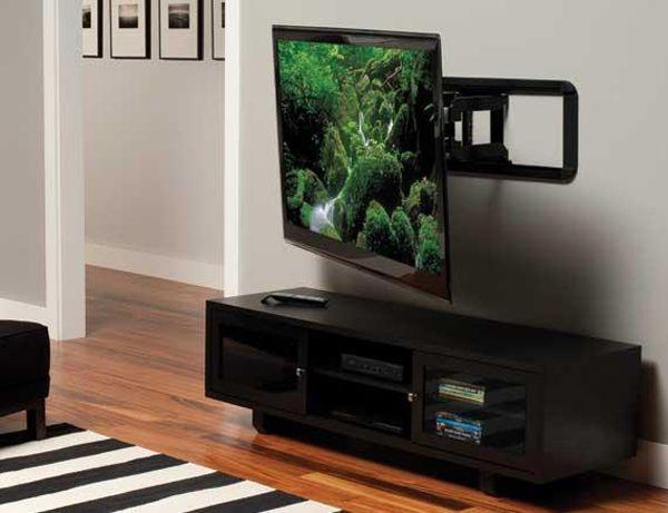 Sanus Full Motion Black Flat Panel Tv Mount Vlf320