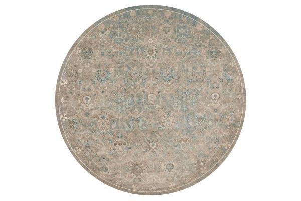 "Large image of Loloi Century Collection 7'7"" x 7'7"" Bluestone Rug - CQ-03-ZVOO-7X7"