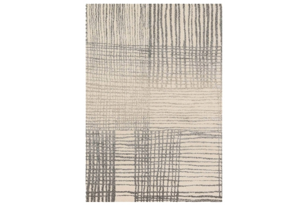 """Large image of Loloi Emory Collection 7'7"""" x 10'6"""" Ivory & Grey Rug - EB-05-IVGY-7X10"""