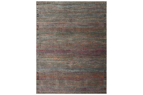 "Large image of Loloi Javari Collection 7'10"" x 10' Charcoal & Sunset Rug - JV-02-CCSS-7X10"