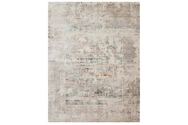 "Large image of Loloi Javari Collection 9'6"" x 12'6"" Ivory & Granite Rug - JV-01-IVGN-9X12"
