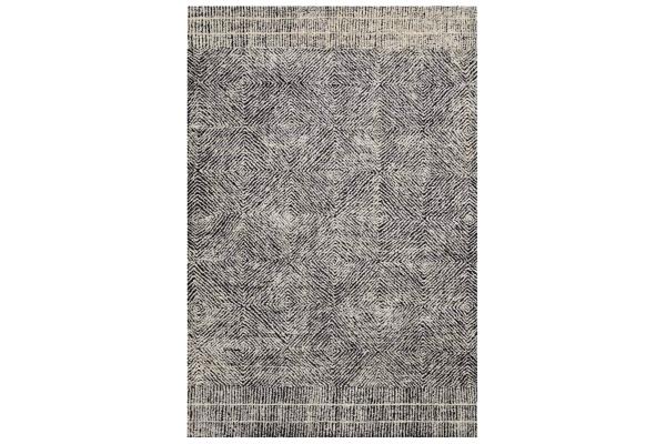 "Large image of Loloi Kopa Collection 9'3"" x 13' Black & Ivory ED Ellen DeGeneres Rug - KO-01-BKIV-9X13"