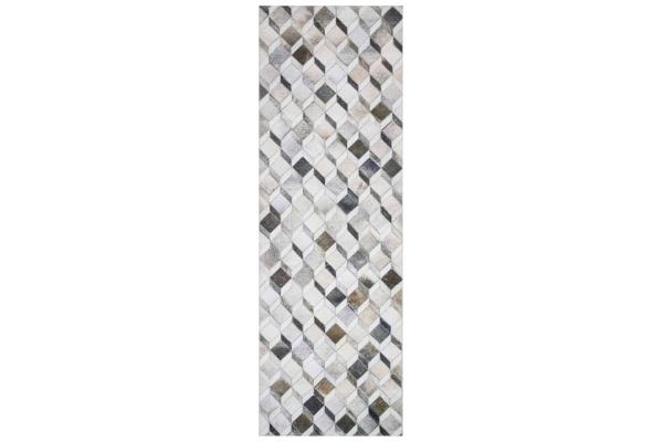"Large image of Loloi Maddox Collection 2'6"" x 7'6"" Grey & Mocha Rug - MAD-02-GYMC-2X7"