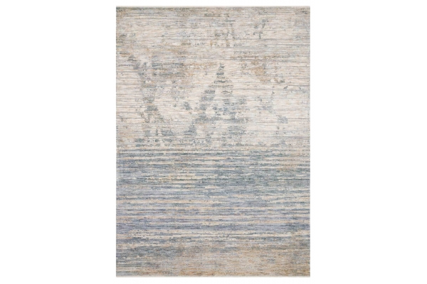 "Large image of Loloi Pandora Collection 7'10"" x 10' Ivory & Blue Rug - PAN-06-IVBL-8X10"