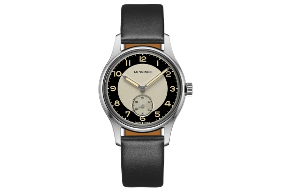 Large image of Longines Heritage Classic Tuxedo Stainless Steel Case And Black Dial Womens Watch - L23304930