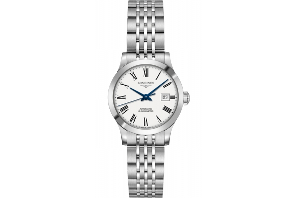 Large image of Longines Record Collection Stainless Steel Case And White Dial Womens Watch - L23214116