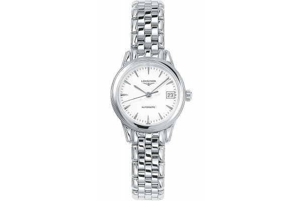 Large image of Longines Flagship Stainless Steel Case And White Dial Womens Watch - L42744126