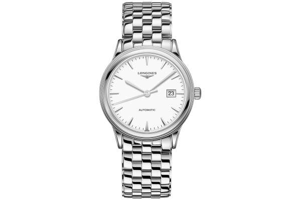 Large image of Longines Flagship Stainless Steel Case And White Dial Mens Watch - L49844126