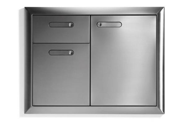 "Large image of Lynx 30"" Stainless Steel Ventana Trash Drawers Combo Unit - LTA30-4"