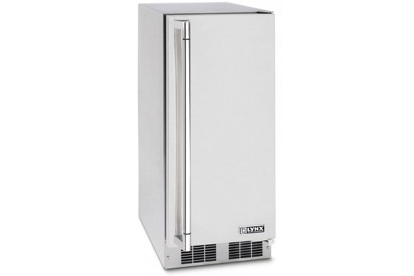 """Large image of Lynx Professional 15"""" Stainless Steel Right-Hinge Outdoor Ice Machine - LN15ICER"""