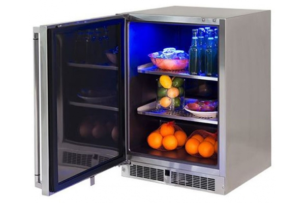 """Large image of Lynx Professional 24"""" Stainless Steel Left-Hinge Outdoor Refrigerator - LM24REFL"""