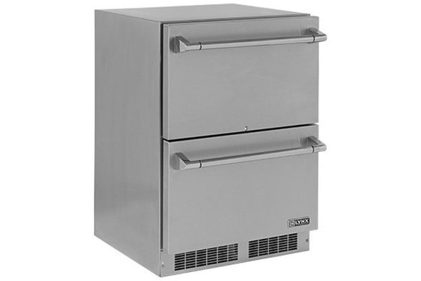 """Large image of Lynx Professional 24"""" Stainless Steel Two Drawer Refrigerator - LN24DWR"""