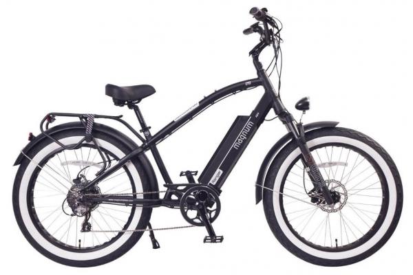 Large image of Magnum Black Ranger 750W Electric Bike - RANGER-MB-48V21A