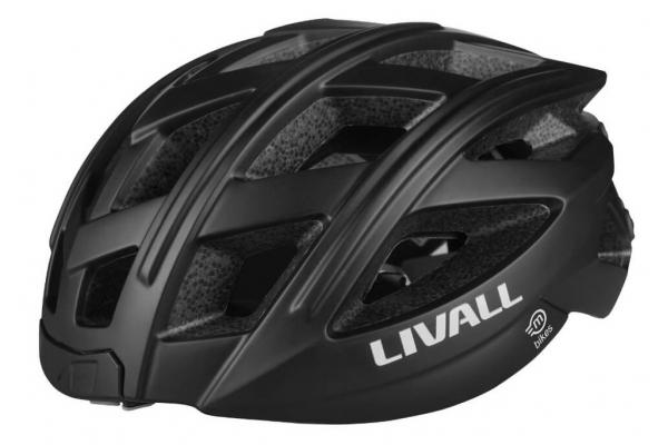 Large image of Magnum Livall Black Smart Bluetooth Bicycle Helmet - BH60E-BLACK