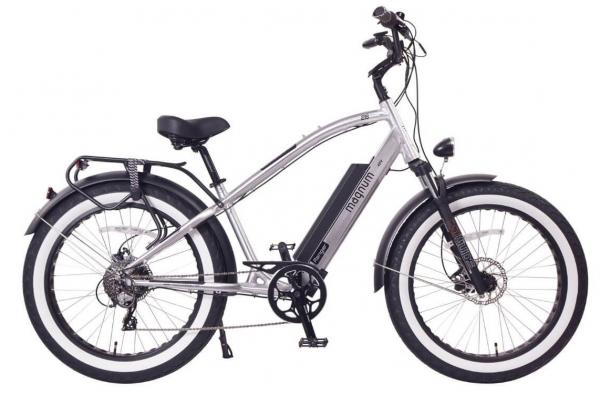 Large image of Magnum Silver Ranger 750W Electric Bike - RANGER-SLV-48V21A