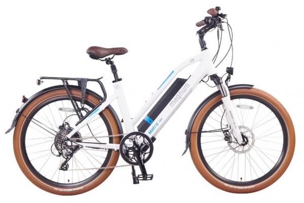 Large image of Magnum White Metro 500W Electric Bike - METRO-LS-W