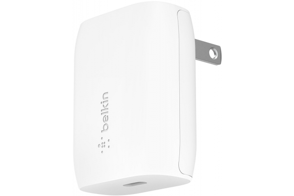 Large image of Belkin BOOST CHARGE 18W USB-C PD Wall Charger - F7U096DQWHT
