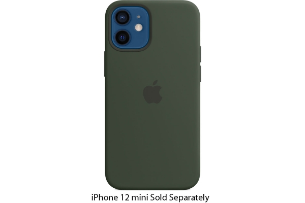 Large image of Apple iPhone 12 mini Cyprus Green Silicone Case With MagSafe - MHKR3ZM/A