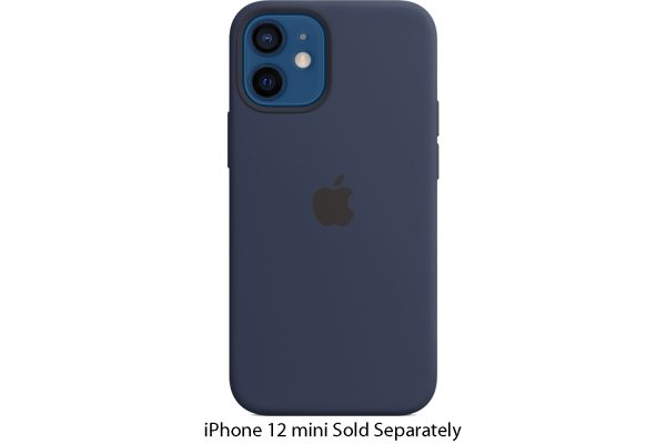 Large image of Apple iPhone 12 mini Deep Navy Silicone Case With MagSafe - MHKU3ZM/A
