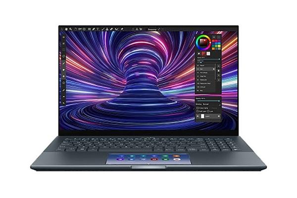 Large image of Asus ZenBook 15 Ultra-Slim Pine Grey Laptop Intel Core i7-10750H 16GB RAM 1TB PCIe SSD, NVIDIA GeForce GTX 1650 Ti - UX535LIXH77T
