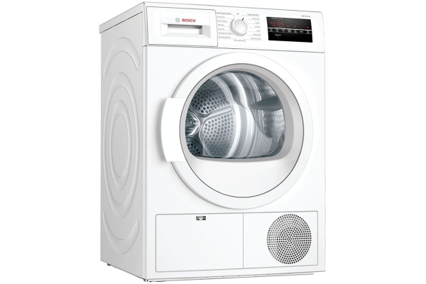 """Large image of Bosch 300 Series 24"""" White Condensation Electric Dryer - WTG86403UC"""