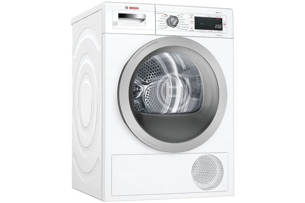 """Large image of Bosch 500 Series 24"""" White Heat Pump Electric Dryer - WTW87NH1UC"""