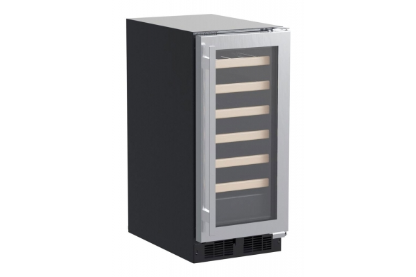 """Large image of Marvel 15"""" Stainless Frame Built-In High Efficiency Single Zone Wine Refrigerator - MLWC215SG01A"""