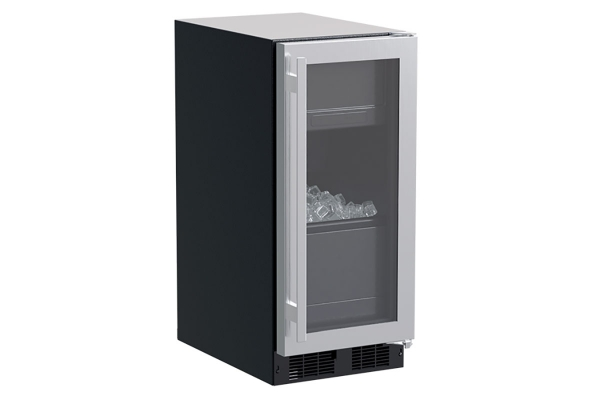 """Large image of Marvel 15"""" Stainless Steel Glass Door Built-In Clear Ice Machine - MLCP215SG01A"""