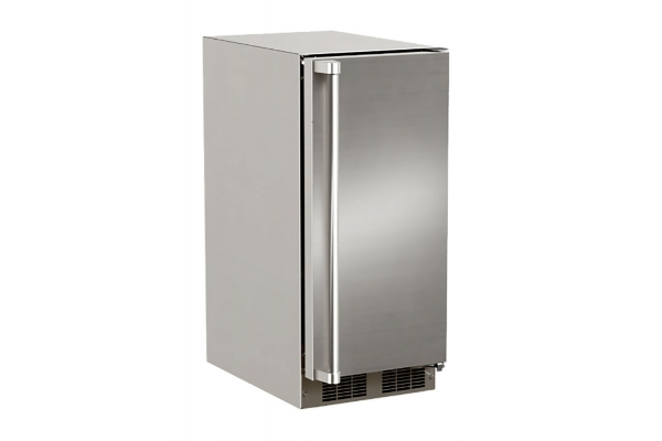 """Large image of Marvel 15"""" Stainless Steel Outdoor Built-In Crescent Ice Machine - MOCR215SS01A"""
