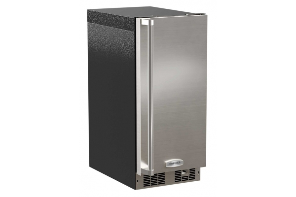 """Large image of Marvel 15"""" Professional Stainless Steel Right Hinge Built-In Clear Ice Machine - MP15CPS3RS"""