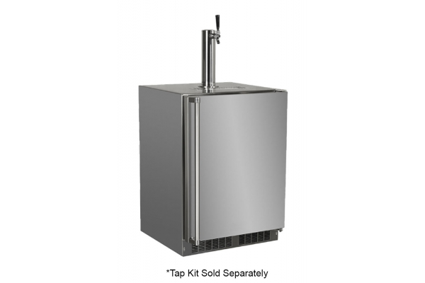 "Large image of Marvel 24"" Stainless Steel Built-In Outdoor Beer Dispenser - MOKR124SS31A"