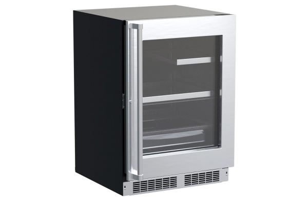 """Large image of Marvel Professional 24"""" Stainless Frame Built-In Refrigerator With 3-In-1 Convertible Shelf & Maxstore Bin - MPRE424SG31A"""