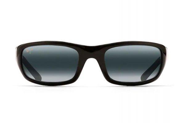 Large image of Maui Jim Stingray Gloss Black Unisex Sunglasses - 103-02