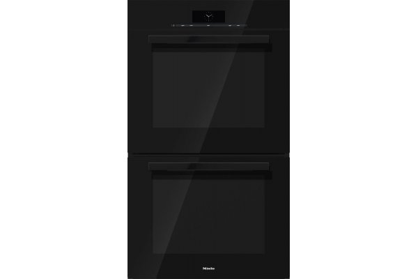 """Large image of Miele PureLine 30"""" Obsidian Black Double Convection Wall Oven - 10752020"""