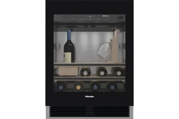 "Large image of Miele 24"" Black Frame Built-In Wine Storage Unit - 10028650"