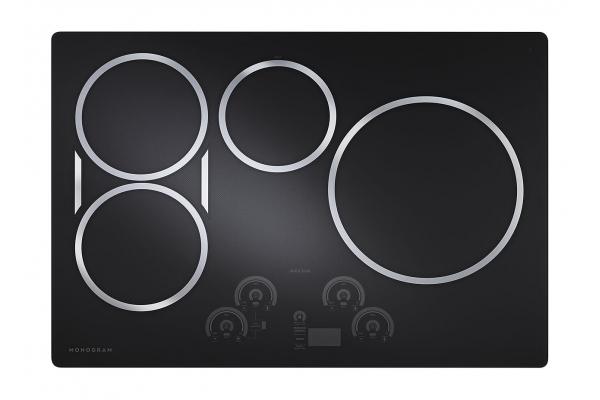 "Large image of Monogram 30"" Black Induction Cooktop - ZHU30RDPBB"