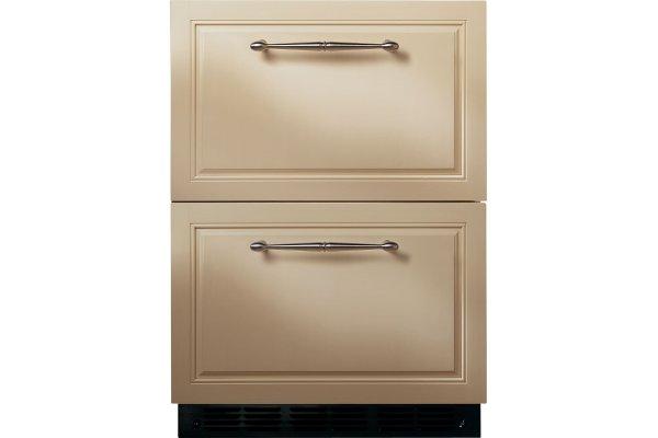 """Large image of Monogram 24"""" Panel Ready Double Drawer Refrigerator - ZIDI240HII"""