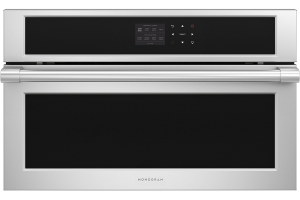 """Large image of Monogram 30"""" Statement Collection Stainless Steel Built-In Smart Steam Oven - ZMB9032SNSS"""