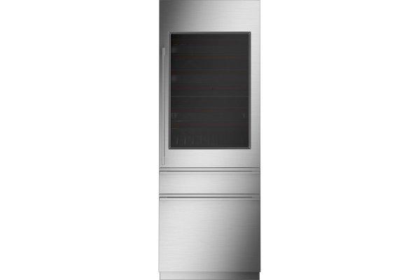 "Large image of Monogram 30"" Custom Panel Frame Integrated Wine Refrigerator - ZIW303NPPII"