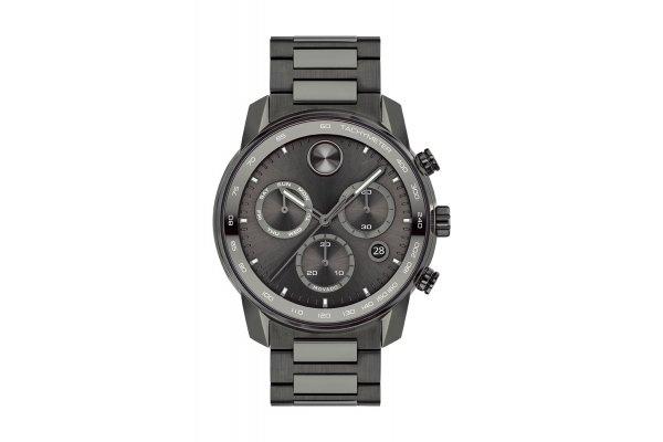 Large image of Movado BOLD Verso Gunmetal Ionic Plated Dial Watch, Gunmetal Ionic Plated Bracelet, 44mm - 3600743