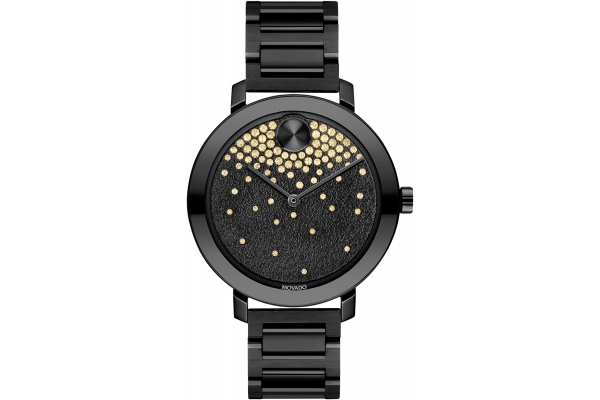 Large image of Movado BOLD Evolution Black Dial Stainless Steel Watch, 34mm - 3600707