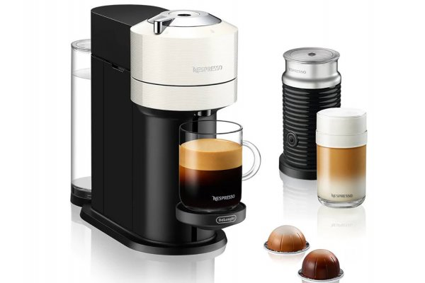 Large image of Nespresso Vertuo Next White Coffee & Espresso Machine - ENV120WAE