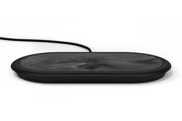 Large image of Nimble APOLLO Charcoal Grey 30W Duo Wireless Charging Pad - NB-WP-DP-ABLK-NA