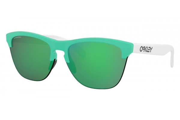 Large image of Oakley Frogskins Lite Origins Collection Prizm Jade Sunglasses, 63mm - OO93743363