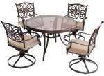 Hanover - TRADDN5PCSWG - Patio Dining Sets