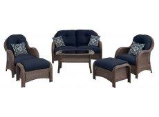 Hanover - NEWPORT6PC-NVY - Patio Seating Sets