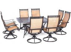 Hanover - MANDN9PCSWSQ-8 - Patio Dining Sets