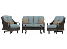 Hanover - VENTURA4PC-BLU - Patio Seating Sets