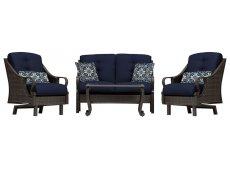 Hanover - VENTURA4PC-NVY - Patio Seating Sets